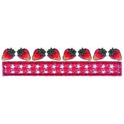 Strawberries Border embroidery design