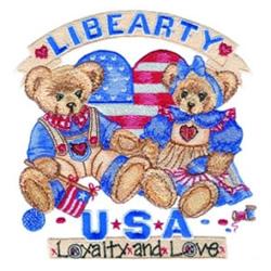 Liberty Bears embroidery design