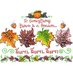 Fall Leaves Saying embroidery design