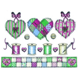 Country Sewing Scene embroidery design