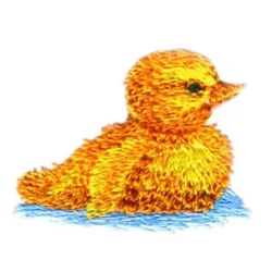 Spring Duck embroidery design