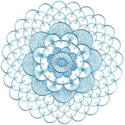 Blue Doily embroidery design