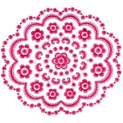 Floral Doily embroidery design