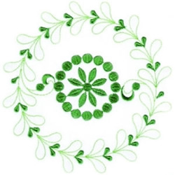 Leaf Doily embroidery design