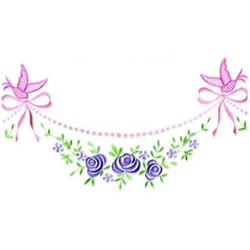 Floral Swag embroidery design