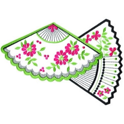 Floral Fans embroidery design