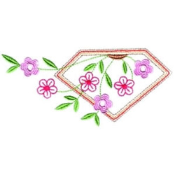 Asian Floral Border embroidery design