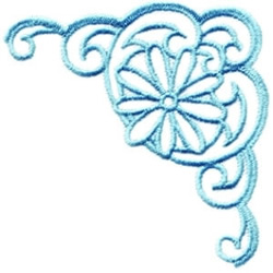 Bluework Corner embroidery design