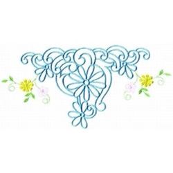 BlueFlowers embroidery design