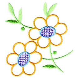 Dainty Floral embroidery design