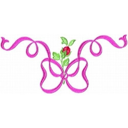 Pink Bow Border embroidery design