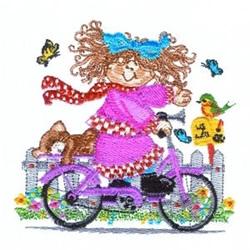 Bike Riding Girl embroidery design