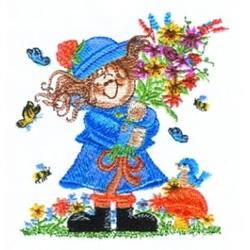 Bouquet Girl embroidery design