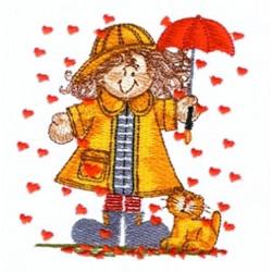 Raining Hearts embroidery design