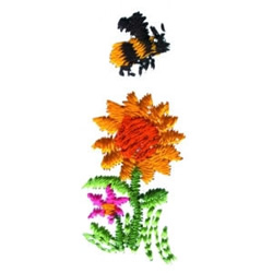 Buzzing Bee embroidery design