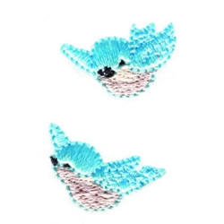 Flying Bluebirds embroidery design