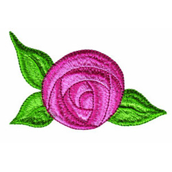 Cabbage Rose embroidery design