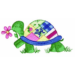 Patchwork Turtle embroidery design