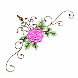 Rose Corner embroidery design