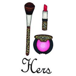 Makeup embroidery design