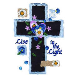 Live in the Light embroidery design