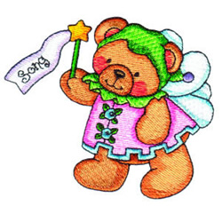 Fairy Bear Song embroidery design