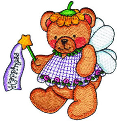 Fairy Bear Happiness embroidery design