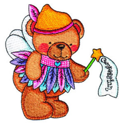 Fairy Bear Compassion embroidery design