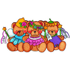 Beary Fairies embroidery design