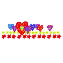 Hearts and Flowers Border embroidery design