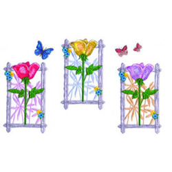 Flowers and Butterflies embroidery design