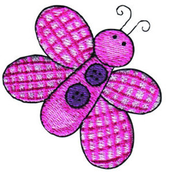 Button Butterfly embroidery design