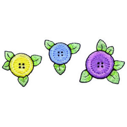 Button Flowers embroidery design