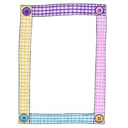 Button Frame embroidery design