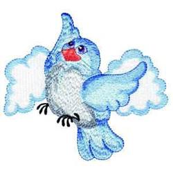 Bluebird In Flight embroidery design
