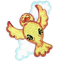 Flying Chick embroidery design