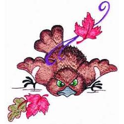 Fallen Bird embroidery design