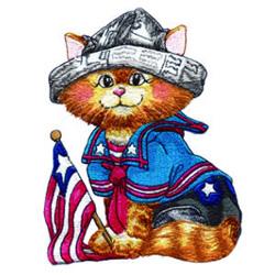 Sailor Kitty embroidery design