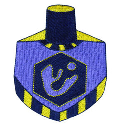 Dreidel embroidery design