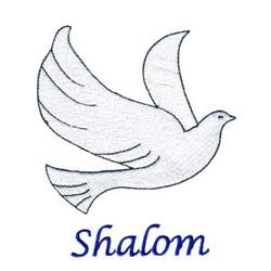 Shalom embroidery design