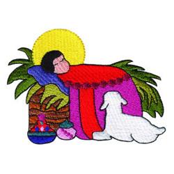 Baby Jesus embroidery design