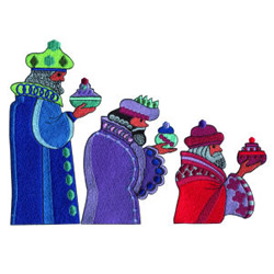 The Three Wise Men embroidery design