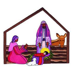 Manger Scene embroidery design