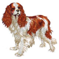Brittany Spaniel embroidery design