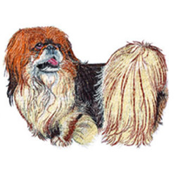 Pekingese embroidery design