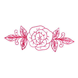 Rose embroidery design