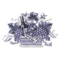 Wine Basket embroidery design