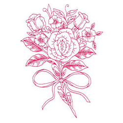 Rose Bouquet embroidery design