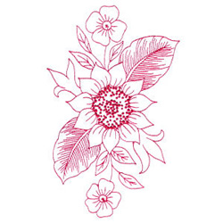 Sunflower Bouquet embroidery design