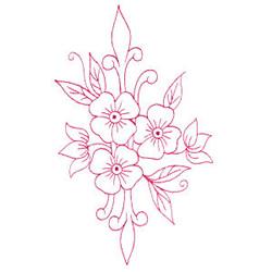 Violet Bouquet embroidery design